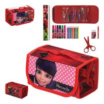 Estojo Escolar Kit de Pintura Personagens Miraculous - Zein
