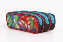 Estojo Escolar Triplo DMW Super Marios Bros 11534 -