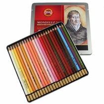 Estojo Lápis Aquarelável Mondeluz 24 Cores Retrato - Koh-I-Noor