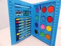 Estojo Maleta Infantil Para Pintura 24 Peças Azul - DS