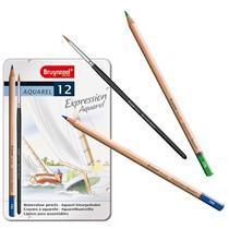 Estojo Metálico de Lápis de Cor Expression Aquarel Bruynzeel 12 Cores - 7735M12 -