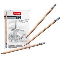 Estojo Metálico de Lápis Expression Graphite Bruynzeel 12 Cores - 7715M12 -