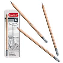 Estojo Metálico de Lápis Expression Graphite Bruynzeel 6 Cores - 7715M06 -