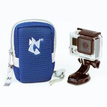 Estojo Pequeno Alhva Para Camera - Cor Azul -