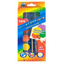 Estojo Tinta Aquarela c/12 cores+Pincel TRIS - Summit