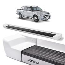 Estribo Attack Exclusiva Branco S10 Cabine Dupla 1996/2011 -