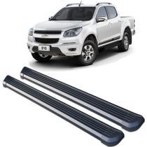 Estribo Chevrolet S10 2012 a 2020 CD C&K Plataforma Lateral Aluminio Preto - Cek