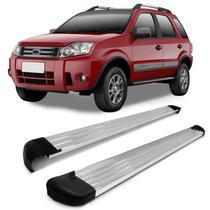 Estribo Lateral Ecosport 2003 a 2012 Plataforma Prata Polido Original Track -