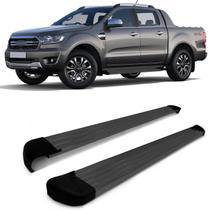 Estribo Lateral Ford Ranger Cabine Dupla 2013 2014 2015 2016 2017 2018 2019 2020 Plaraforma Grafite - Track