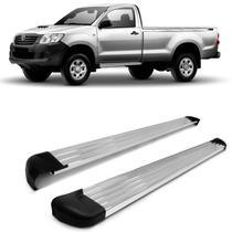 Estribo Lateral Hilux Cabine Simples 2005 A 2015 Plataforma Alumínio Polido - Track