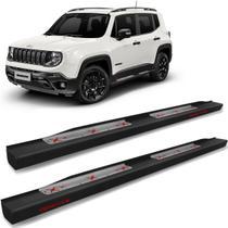 Estribo Lateral Jeep Renegade 2015 a 2021 Steel Carbon Preto Cek - CK