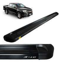 Estribo Lateral S10 2012 a 2020 Alumínio Preto Track -