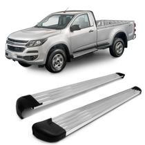 Estribo Lateral S10 2012 A 2020 Cabina Simples Plataforma Prata Polido Original Track -