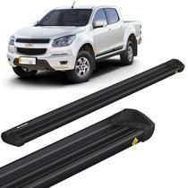 Estribo Lateral S10 2012 a 2020 CD Aluminio Preto Keko K1 -