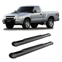 Estribo S10 1995 a 2010 2011 Cabine Simples Preto Oblongo - Track