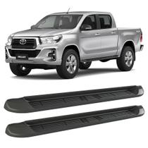 Estribo Toyota Hilux 2016 a 2021 Bepo Plataforma Lateral Preto -