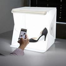 Estudio fotografico fotografia para ecommerce com iluminação led mini portatil completo tenda fotogr - Faça  resolva
