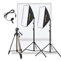Estúdio Youtuber Completo Iluminação Audio Silver 110v - Tudoprafoto