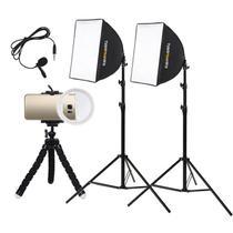 Estúdio Youtuber para Celular Soxtbox Mini Ring Light - Bronze 220v - Tudoprafoto