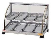 Estufa Para Salgados Ouro de 8 Bandejas Curva Dupla - Marchesoni -