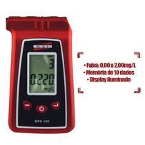 Etilômetro Bafômetro Digital Medidor de Álcool Etílico Sem Certificado BFD-100 Instrutherm -