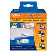 Etiqueta para impressora térmica 29x90mm - DK1201 - com 400 unidades - Brother -