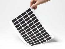 Etiquetas adesivas lousas rótulos kit com 48 unidades 4x2cm preto - gtech -