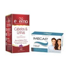 Etterna Cabelos E Unhas Multivitamínico C/60 Cáps + Amostra Imecap Hair  C/10 cápsulas -