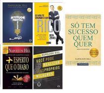 Eu vou te ensinar a ser rico + Só Tem Sucesso + Atitude Mental + Mais Esperto q o diabo + 1 livro - Várias Editoras
