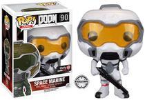 Exclusivo - Doom Marine 90 branco - Doom - Funko Pop -