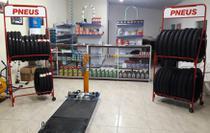 Expositor de Pneus 2 andares Fabricado em tubo de aço desmontável - Rampas Maki