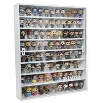 Expositor Funko Pop (para 100 Pops) Mdf, Portas Em Vidro, 8 vãos, Dom Móveis - branco -