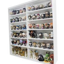 Expositor MDF para colecionáveis e funko pop, portas em vidro, 12 vãos, Dom Móveis - branco -