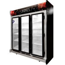 Expositor Vertical de Carnes 3 Portas Média Temperatura 1.450 Litros Fricon ACFM1450-2V010 Preto 220V -