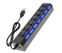Extensão Carregador Usb 7 Portas Pc Notebook Mouse Teclado - Lehmox