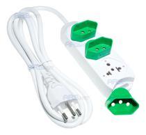 Extensão Elétrica 3 Tomadas Universal Plug Removível 1,5 Mts - Knup