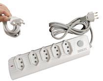 Extensão Elétrica 5 Tomadas Botão LIGA/DESLIGA  3 METROS - Box7 -