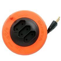 Extensão Elétrica Pop Spin 3 Tomadas Fio Pl 2x0,75mm 5 Metros Bipolar Laranja - Daneva -