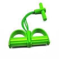 Extensor 4 tubos Academia Pedal Fitness Casa abdominal elastico cordas Pilates exercicio Intensidade - Ab Midia