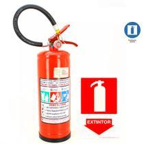 50ae07e4d6282 Extintor de Incendio Pó Químico ABC 4kg + 1 Placa Sinalizadora Grátis