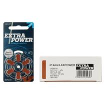 EXTRAPOWER 312 / PR41 - 10 Cartelas - 60 Baterias para Aparelho Auditivo -