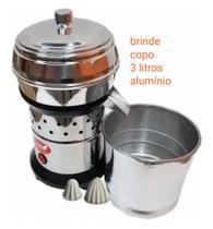 Extrator Espremedor Industrial de Suco Laranja Inox 500w Bivolt + Copo Alumínio 3 Litros - Visalux -