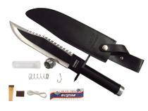 Faca Rambo Tática First Blood Com Kit Sobrevivência - Taue