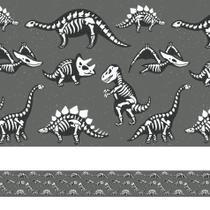 Faixa Adesiva Infantil Dinossauros Fósseis 5mx10cm - Quartinhos