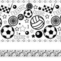 Faixa Adesiva Para Quarto de Menino Esportes 3mx15cm - Quartinhos