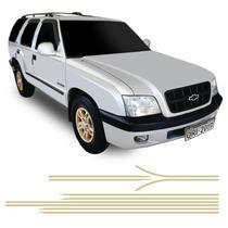 Faixa Blazer Executive 2001/2002 Adesivo Lateral Dourado - Sportinox