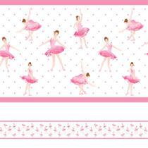 Faixa de Parede Bailarina Infantil Rosa 5mx10cm - Quartinhos