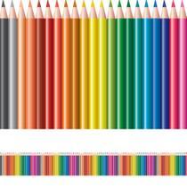 Faixa de Parede Infantil Lapis de Cor Reto 12mx15cm - Quartinhos