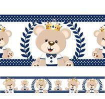 Faixa Decorativa Adesivo Border Infantil Bebe Ursinho Rei - Adc