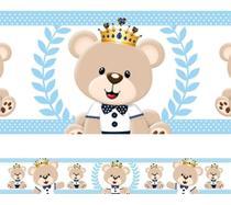 Faixa Decorativa Adesivo Border Infantil Urso Príncipe - Casa Colorida
